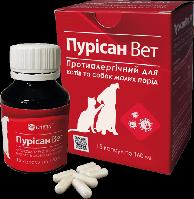 Фітопрепарат Пурісан Вет для котів та собак малих порід при алергії.