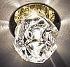 Точечный декоративый светильник с кристаллом Feron JD94 JCD9 прозрачный-золото