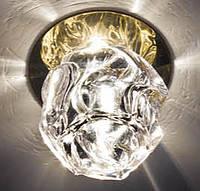 Точечный декоративый светильник с кристаллом Feron JD94 JCD9 прозрачный-золото, фото 1
