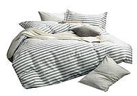 Комплект постельного белья Хлопковый Сатин NR C1076 Oulaiya 8981 Серый