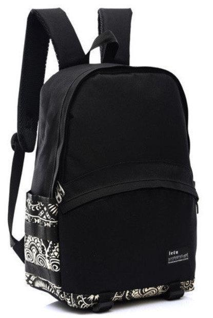 Рюкзак городской BR-S с орнаментом черный (977786222)