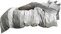 Комплект постельного белья Хлопковый Сатин NR C1307 Oulaiya 8753 Серый