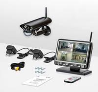 Беспроводная цифровая система видеонаблюдения с 7-ми дюймовым приёмником-монитором (Danrou KCM-6370DR)
