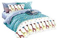 Комплект постельного белья Хлопковый Сатин Детский NR C1239 Oulaiya 9166 Синий, Желтый