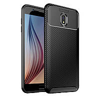 Чехол Carbon Case Samsung Galaxy J7 2018 Черный