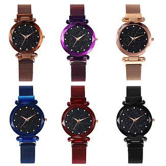 Женские наручные часы на магнитной застежке (золотистый ремешок), фото 2