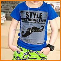 """Детская брендовая футболка для стильного мальчика """"Усы"""""""