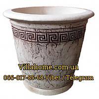 Керамический вазон 32 литра. Шамотный горшок диаметр 45 см.