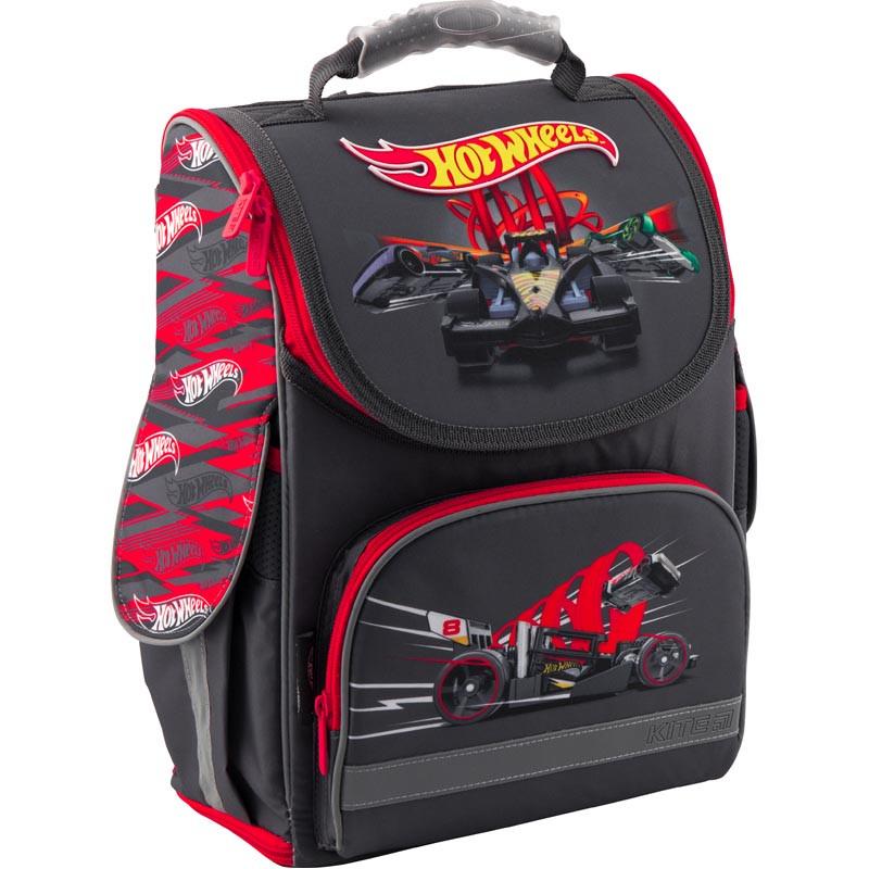 "Рюкзак школьный каркасный ""трансформер"" Kite 500 Hot Wheels HW19-500S"