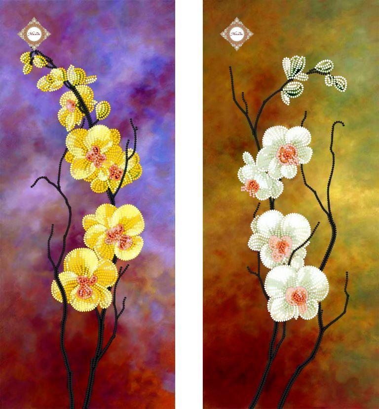 СЛТ-2207 Танцующие орхидеи.ТМ Миледи.Схема для вышивки бисером модульной картины