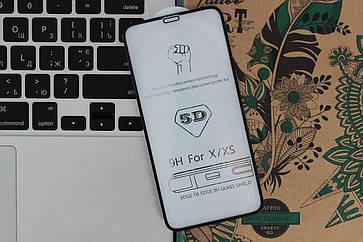 Защитное стекло 5D Full Screen iPhone X - black