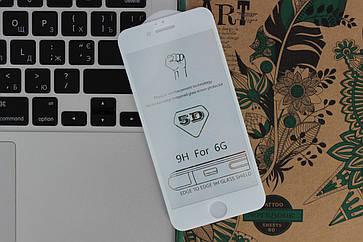 Защитное стекло 5D Full Screen iPhone 6/6s - white