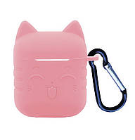 Чехол SMILE CAT 2in1 ( + карабин) для AirPods Pink