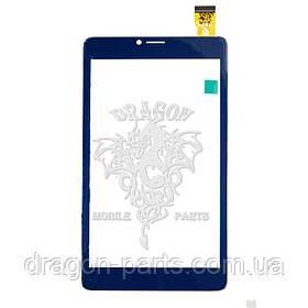 Сенсор (тачскрин) Nomi C070014 Corsa 4 3G Синий, оригинал