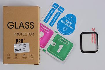 Защитное стекло 3D (Полная проклейка) для Apple Watch Series 4 40mm