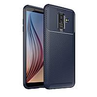 Чехол Carbon Case Samsung A605 Galaxy A6 Plus 2018 Синий