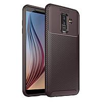 Чехол Carbon Case Samsung A605 Galaxy A6 Plus 2018 Коричневый