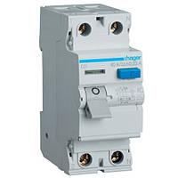 Устройство защитного отключения (УЗО) Hager CD226J- 2x25A, 30mA, AC