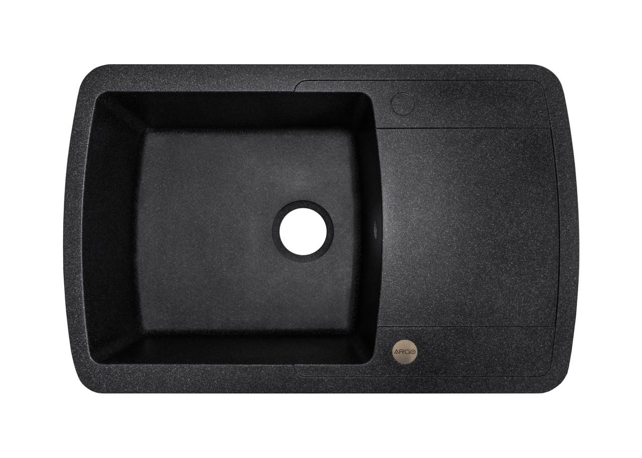 Гранітна плита, мийка Argo PREMIO (78*50) Чорний