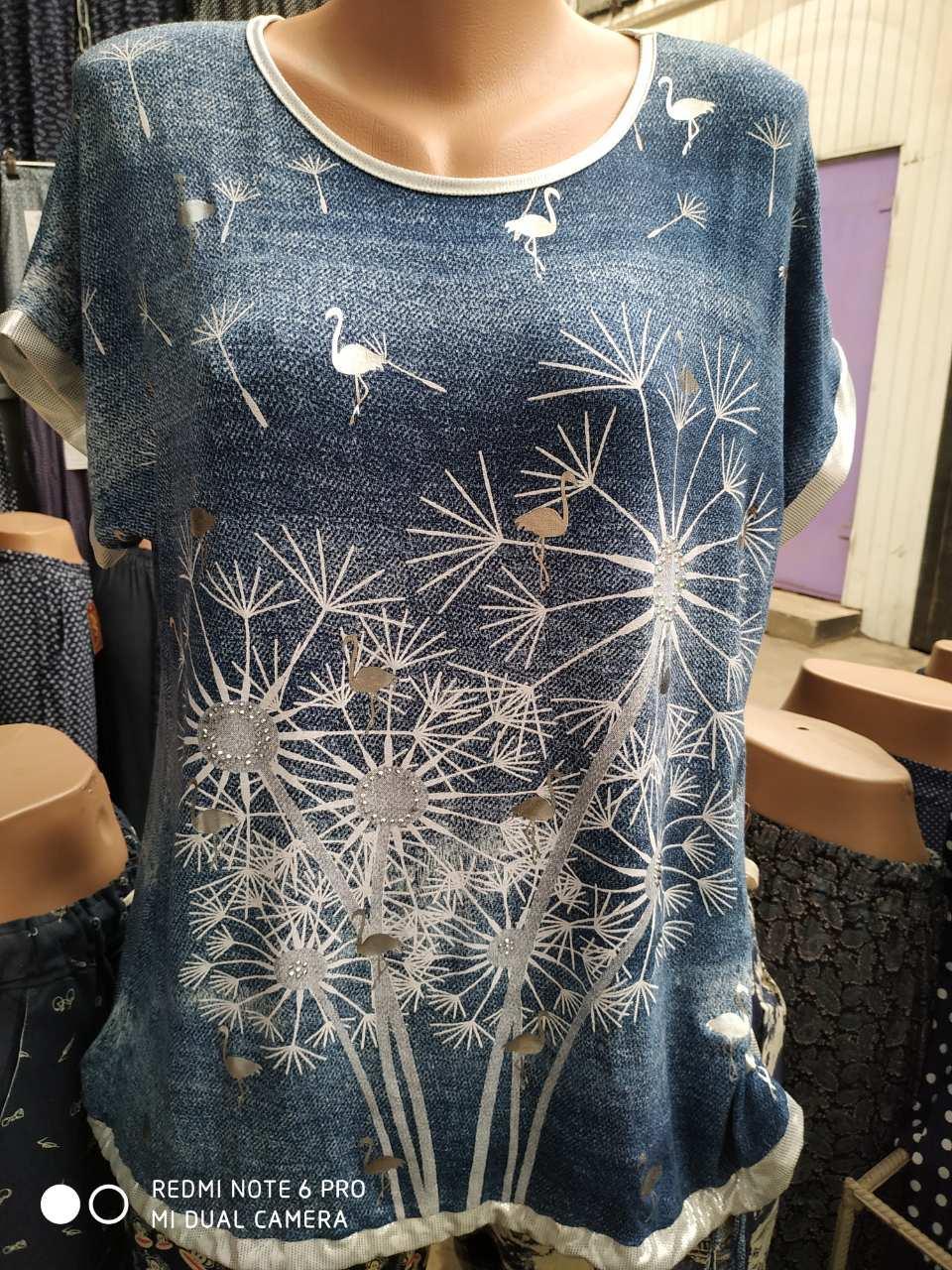 Туника-футболка летняя одуванчики 326398