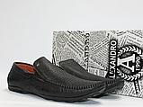 Мужские перфорированные мокасины ALEXANDRO натуральная кожа 41, фото 2