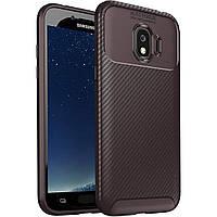 Чехол Carbon Case Samsung J2 Pro 2018 Коричневый