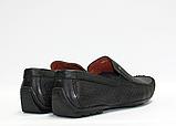 Мужские перфорированные мокасины ALEXANDRO натуральная кожа 42, фото 3