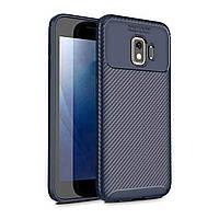 Чехол Carbon Case Samsung J260 Galaxy J2 Core Синий