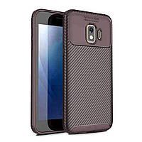 Чехол Carbon Case Samsung J260 Galaxy J2 Core Коричневый