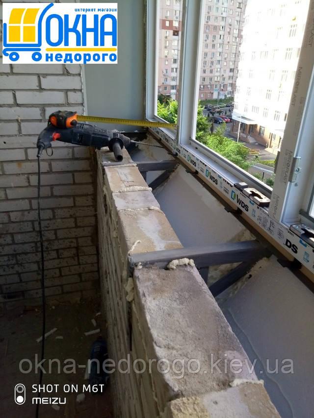 Балкон с выносом косынкой Киев ул.Никольско-Слободская 6/2