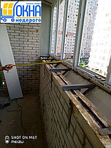 Балкон с выносом косынкой по подоконнику, фото 2
