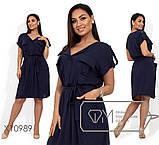 Платье миди из штапеля, прямое в стиле сафари с карманами и резинкой на талии под пояс, 1 цвет, фото 2