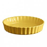 Форма для запекания круглая Emile Henry Ovenware 26 см Желтая (906028)
