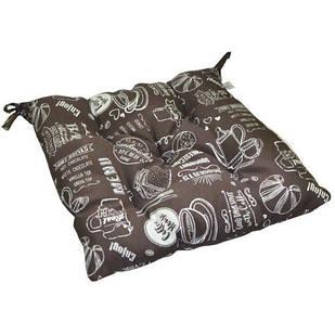 Подушка на стілець Breakfast brown 40х40 см