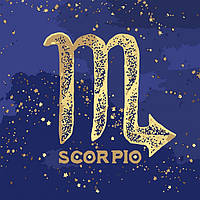 Картина по номерам, краска металик, знак зодиака Скорпіон, 50x50 см., Идейка