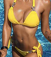 Яркий купальник желтого цвета, фото 1