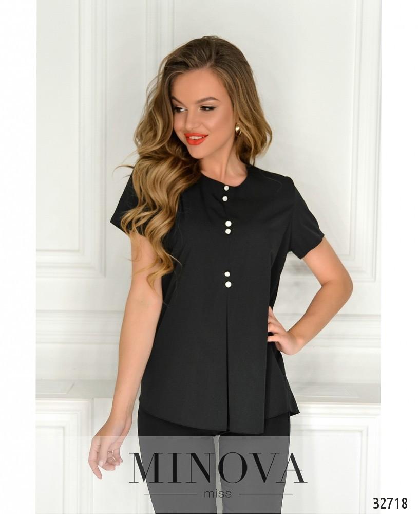 Женская блузка с пуговицами 42-56 (в расцветках)