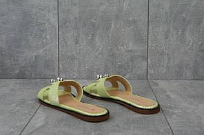 Шлепанцы Violeta 100 -14 (лето, женские, искусственная кожа, салатовый)