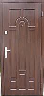 """Двери входные  """"арка"""" темный орех (улица)"""