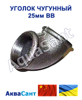 Косинець чавунний 25 мм В/В, фото 1