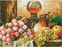 АМШ-101. Набір алмазної мозаїки Натюрморт з виноградом.