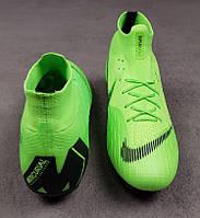 Бутсы Mercurial Superfly 6 Elite Green FG , зеленые, футбольные, беговые 40,45