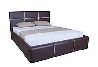 Кровать двуспальная мягкая с подъемным механизмом  в спальню  Стелла Melbi. Ліжко двоспальне м'яке