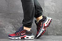 Мужские кроссовки Найк Air Max Tn темно сині з червоним , в стиле
