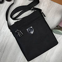 b13397b98920 Классическ мужская сумка-планшет Philipp Plein черная планшетка унисекс  через плечо текстиль Плейн реплика
