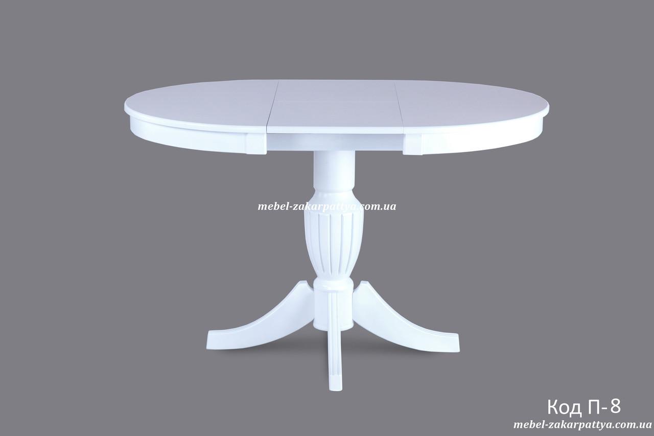 Стол круглый деревянный раскладной Код П-8