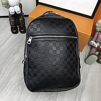 0d2a00790674 Удобный женский рюкзак Louis Vuitton черный практичный рюкзачок унисекс  кожзам Луи Виттон премиум реплика