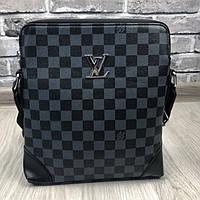 97dff9ad3775 Молодежная женская сумка-планшетка Louis Vuitton серая кожа ПУ через плечо  новая модель Луи Виттон