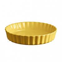 Форма для запекания круглая Emile Henry Ovenware 24 см Желтая (906024), фото 1