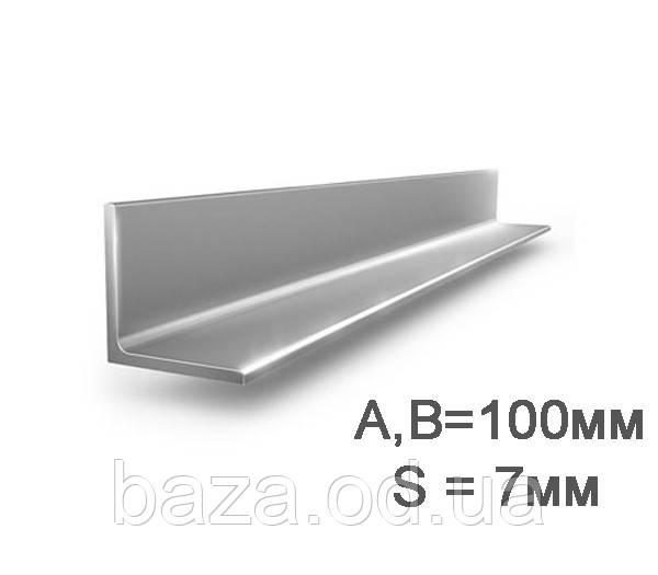 Уголок металлический 100x100x7 мм